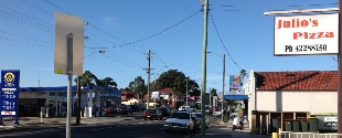 West Wollongong Shopping Strip
